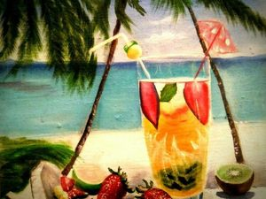 Пишем маслом тропический натюрморт. Ярмарка Мастеров - ручная работа, handmade.