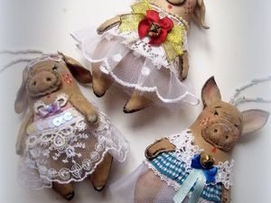 Свинки — снежинки). Ярмарка Мастеров - ручная работа, handmade.