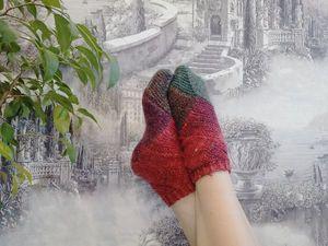 Вяжем носки на двух спицах. Ярмарка Мастеров - ручная работа, handmade.