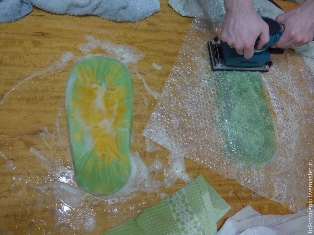 мокрое валяние handmade