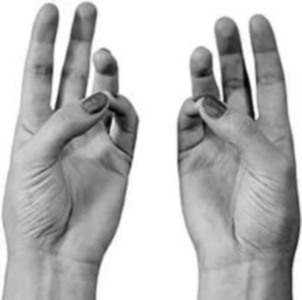 бхуди-мудра, мудра жидкости, мудры, иога рук, иога