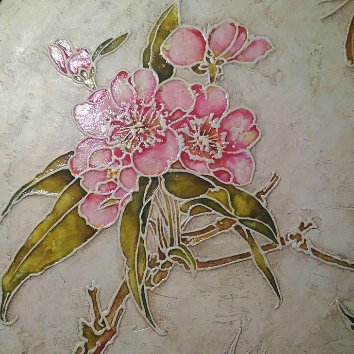 роспись по дереву, картина, весна, подарок на 8 марта, подарок на новый год, для дома и дачи