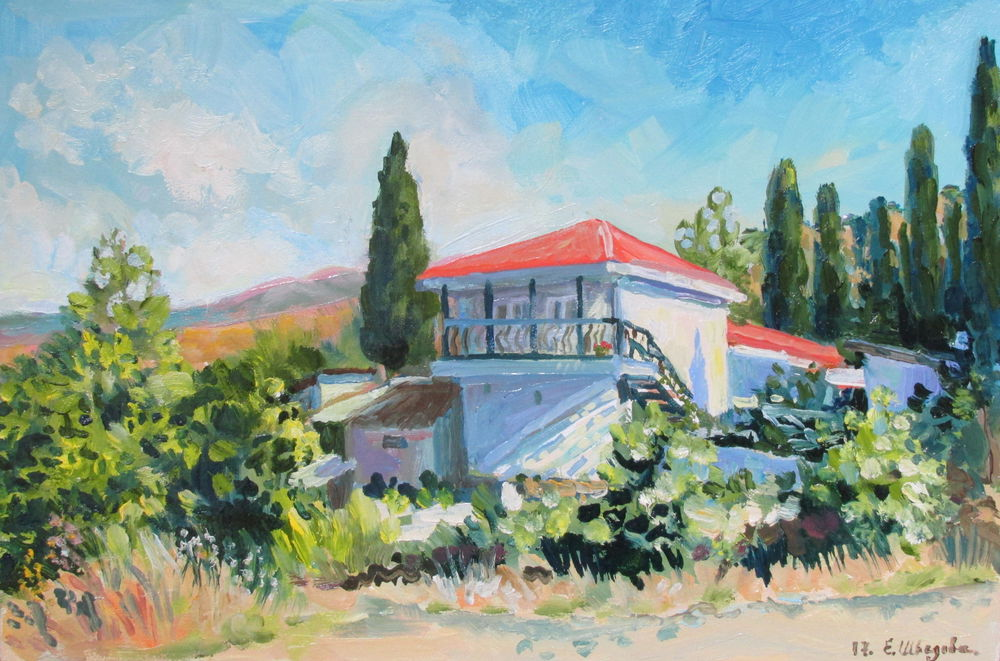 новая картина, крымский пейзаж, картина для интерьера