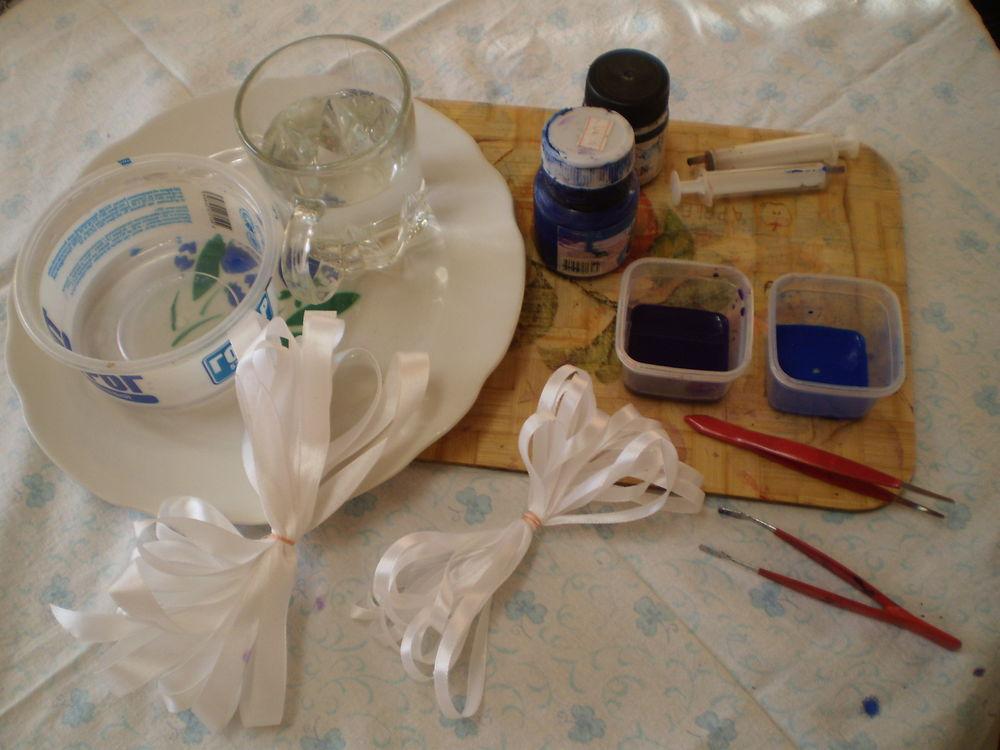 Вышивка лентами окраска