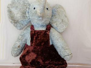 Реставрация плюшевого слона из СССР. Фотоотчет. Ярмарка Мастеров - ручная работа, handmade.