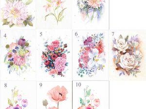 АКЦИЯ октября - 4 открытки за 100 руб (выбор из 56 штук). Ярмарка Мастеров - ручная работа, handmade.