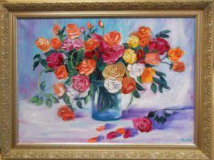 Мои большие картины с цветами. Как писать цветы маслом. | Ярмарка Мастеров - ручная работа, handmade