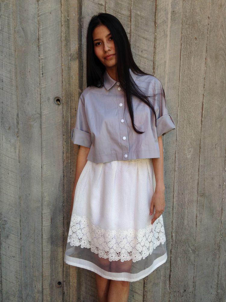 юбка на выход, ася давыдова, летняя одежда, кружево, дизайнерские вещи, сейл, цветочный узор, натуральный хлопок, скидка 25%