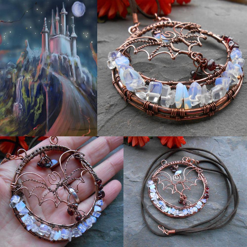украшения из металла, украшения из меди, украшения из проволоки, авторские украшения