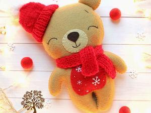 Поддержим чудесного новогоднего мишку!!!!!!!! | Ярмарка Мастеров - ручная работа, handmade