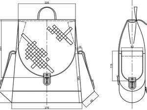 Шьем женский кожаный рюкзак. Часть 1. Проектирование   Ярмарка Мастеров - ручная работа, handmade