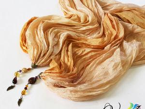 """Палантин """"Золотые крылья"""". Фото. Ярмарка Мастеров - ручная работа, handmade."""