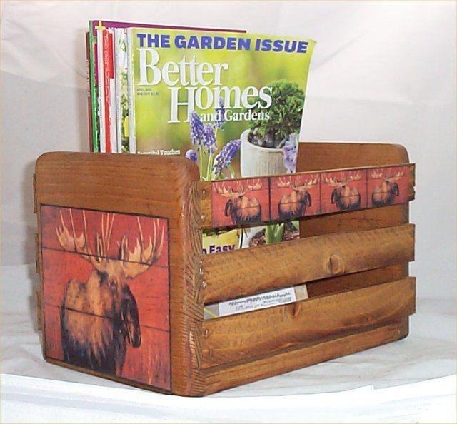 Moose Magazine Rack Holder Cabin Lodge Decor by houseandcraft, $22.99