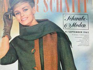 Neuer Schnitt — старый немецкий журнал мод 9/1962. Ярмарка Мастеров - ручная работа, handmade.
