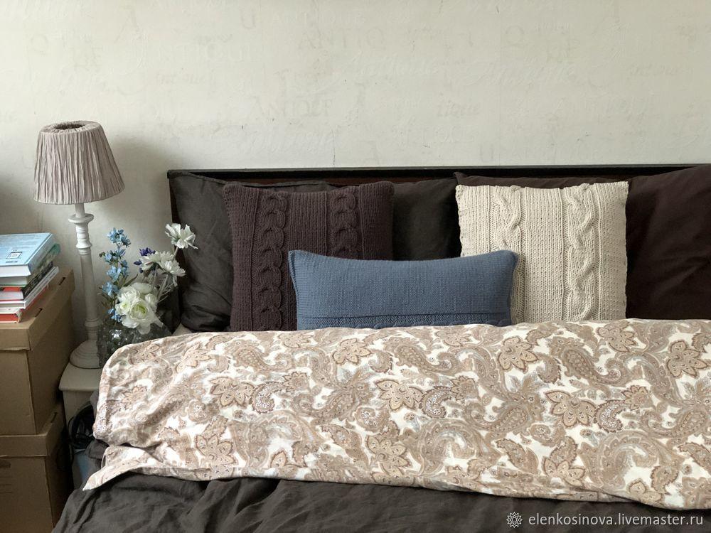Вяжем наволочку спицами для подушки 30 на 50 см, фото № 19