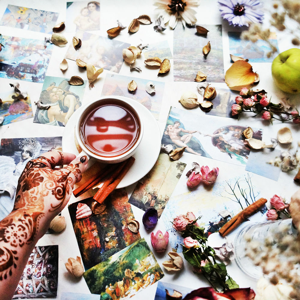 вдохновение, ирина баст, петербург, flat lay, красивые фото, коллаж