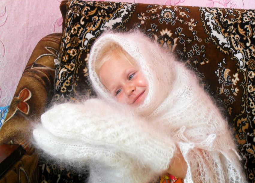 шаль, платок на голову