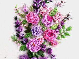 Мастер класс Как вышить на блузке букет цветов. Ярмарка Мастеров - ручная работа, handmade.