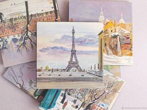 New! Подставки под бокалы Париж. Ярмарка Мастеров - ручная работа, handmade.