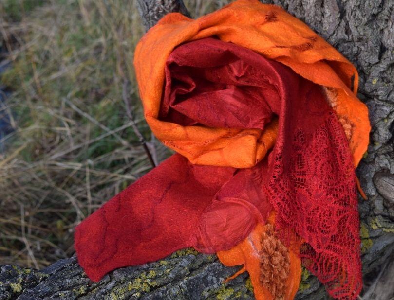 нунофелт, женский шарф