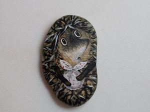 Как сделать из обычного камня обаятельного ёжика | Ярмарка Мастеров - ручная работа, handmade