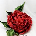 цветы ручной работы, цветы из шелка, роза, обучение цветоделию, бульки