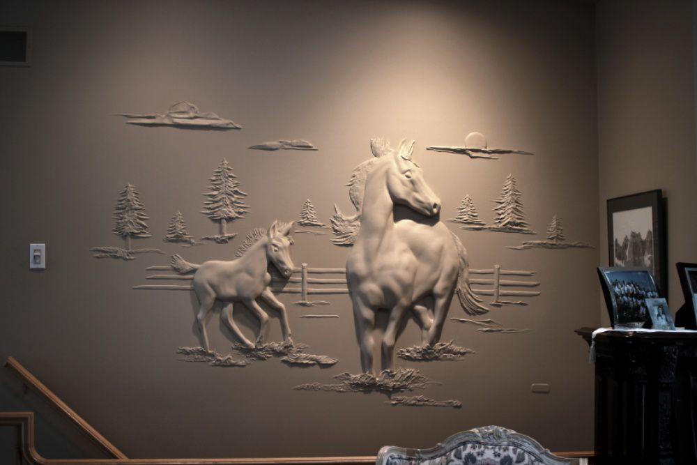 Bernie Mitchell: превращение скучных стен в произведение искусства, фото № 10