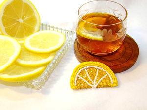 Лимон или лимонная долька. Ярмарка Мастеров - ручная работа, handmade.