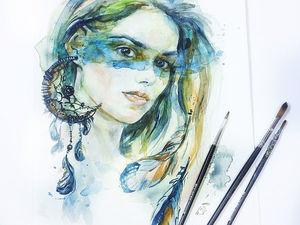 НОВИНКА! Портрет в авторском исполнении, акварель | Ярмарка Мастеров - ручная работа, handmade