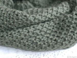 Аукцион на Оливковый шарф - снуд. Ярмарка Мастеров - ручная работа, handmade.