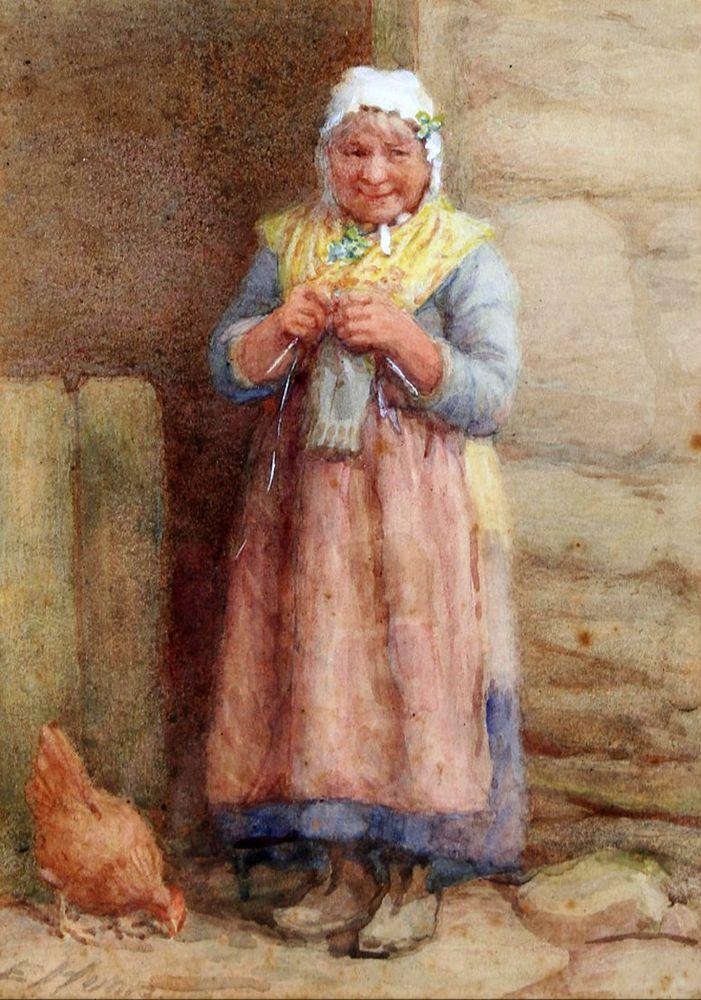 Когда есть чем заняться — стареть некогда: душевные картины о бабушках-рукодельницах, фото № 19