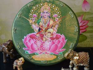 Богиня Богатства и Процветания Лакшми в моих работах. Ярмарка Мастеров - ручная работа, handmade.