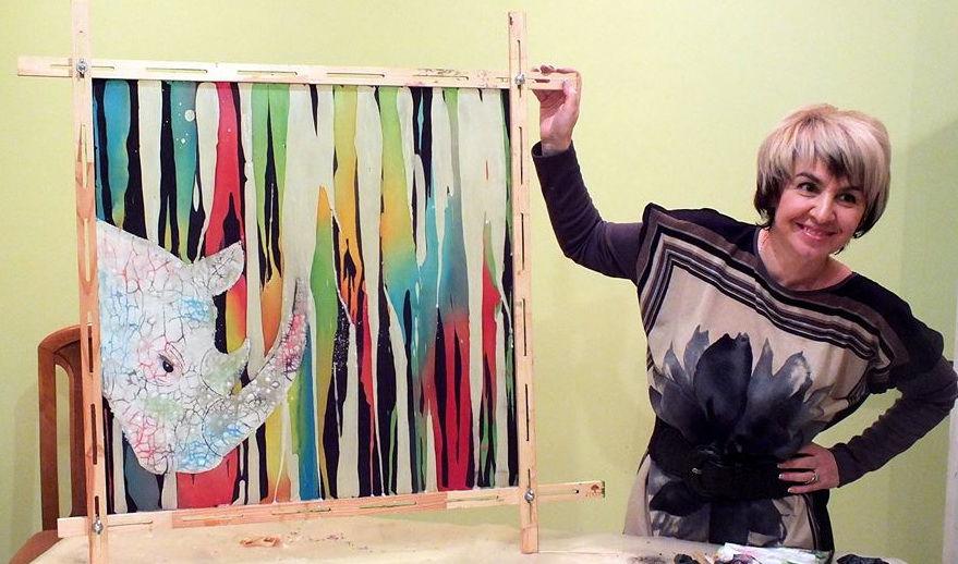 экспериментальный батик, мк яковлевой светланы, роспись шейного платка, уроки росписи по шелку