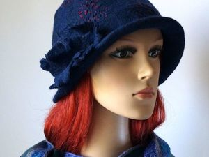 Скидка на валяные шапки, шляпки 10 %. Срок акции с 10 по 13 сентября. Ярмарка Мастеров - ручная работа, handmade.