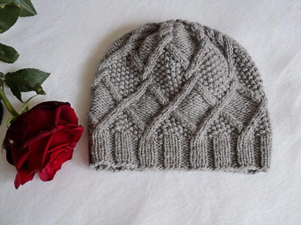 шапка вязаная, модная шапка
