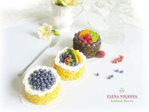 Новинка. Серия пирожных с фруктами.. Ярмарка Мастеров - ручная работа, handmade.
