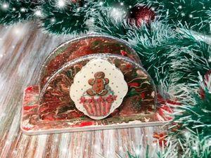 Видеообзор новогодней работы. Салфетница  «Новогодняя». Ярмарка Мастеров - ручная работа, handmade.
