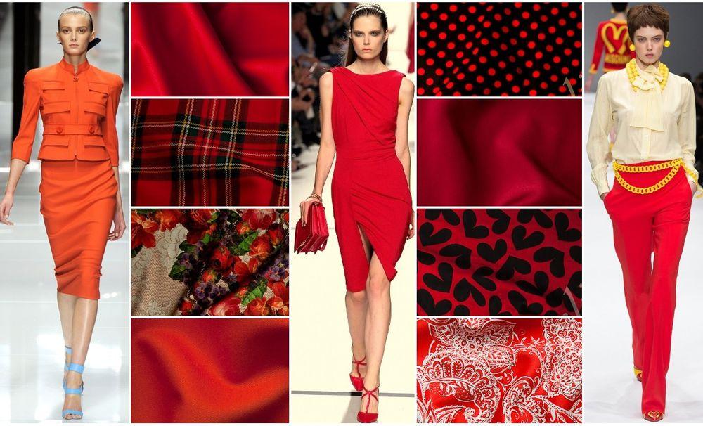 красный цвет, ткани красные, красные оттенки, шерсть, джерси, ткани из италии
