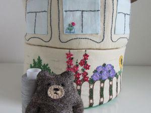 Шьем домик для мишки: мастер-класс. Ярмарка Мастеров - ручная работа, handmade.