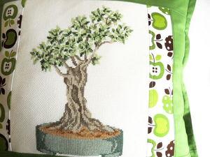 Щедрый аукцион. Подушка с деревом бонсай. Ярмарка Мастеров - ручная работа, handmade.