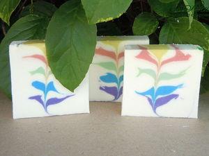 Цветик-семицветик натуральное мыло с нуля. Ярмарка Мастеров - ручная работа, handmade.