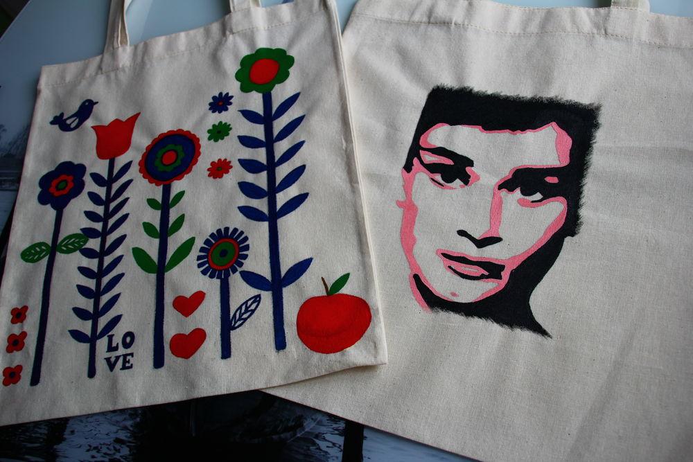 Новинка магазина - хлопковые эко сумки с ручной росписью., фото № 1