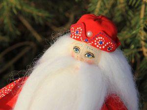 Создаем нарядную шапку для текстильного дедушки Мороза. Ярмарка Мастеров - ручная работа, handmade.