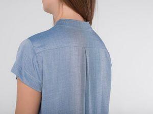YOKU в деталях: платье-рубашка из шамбре светлый деним. Ярмарка Мастеров - ручная работа, handmade.