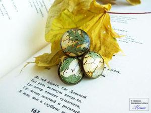 Набор украшений с настоящими листьями. | Ярмарка Мастеров - ручная работа, handmade