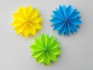 Мастерим бумажные цветы в технике оригами. Ярмарка Мастеров - ручная работа, handmade.