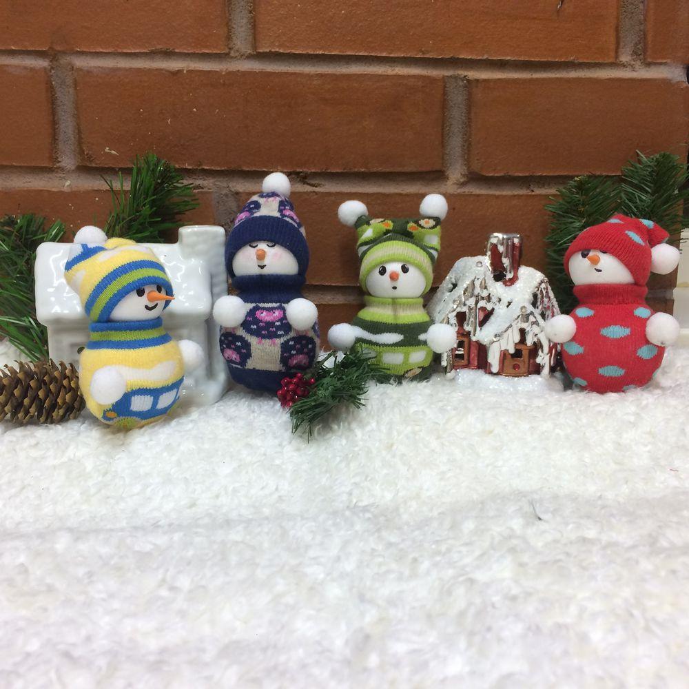 снеговик спицами схемы