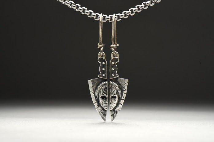 подарки к новому году, подарок женщине, серебро, horror, парные украшения