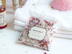 Соль для ванн с лепестками роз снова в продаже!. Ярмарка Мастеров - ручная работа, handmade.