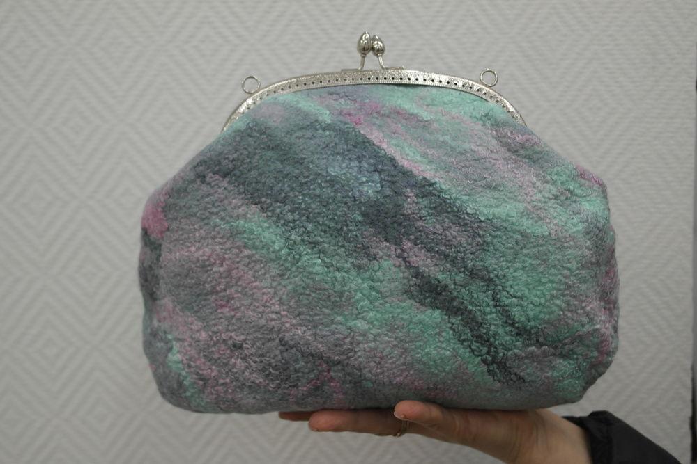 Изящная валяная сумочка с фермуаром, фото № 26